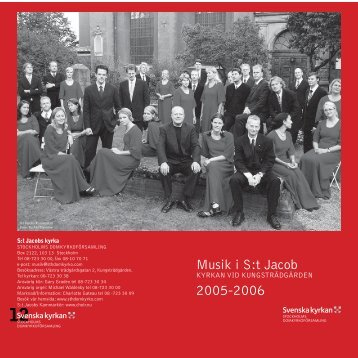 Musik i S:t Jacob - St Jacobs Kammarkör / St Jacobs Chamber Choir