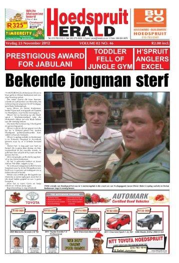 PRESTIGIOUS AWARD FOR JABULANI - Letaba Herald