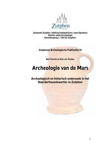 Bijlage 21 Archeologisch onderzoek in het Noorderhavenkwartier van