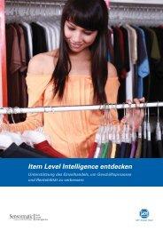 Item Level Intelligence entdecken - ADT
