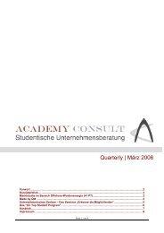 Quarterly   März 2006 - Academy Consult München e.V.