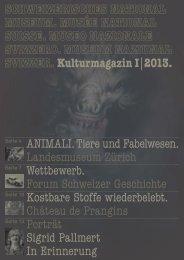 ANIMALI. Tiere und Fabelwesen. Landesmuseum Zürich ...