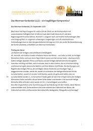 Das Wormser Konkordat 1122 - Historisches Museum der Pfalz ...