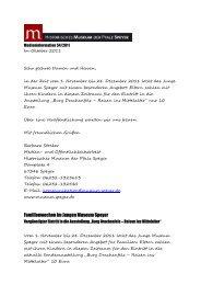 Familienwochen im Jungen Museum Speyer - Historisches Museum ...