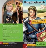 Flyer Burg Drachenfels - audio Konzept