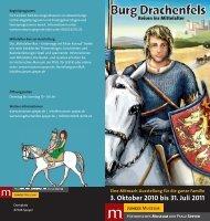 Broschüre Burg Drachenfels - Historisches Museum der Pfalz Speyer