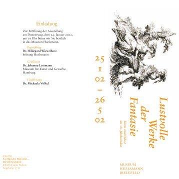 Lustvoll; Einladung bel. - Museum Huelsmann