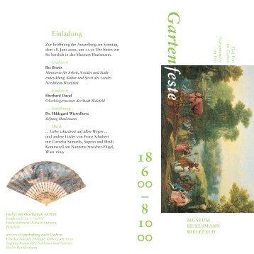 Garten; Einladung 6 - Museum Huelsmann