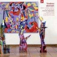 Tendenz abstrakt - Museum Junge Kunst Frankfurt