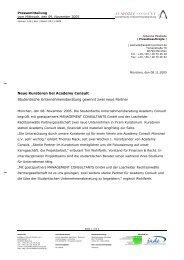 Neue Kuratoren bei Academy Consult Studentische ...