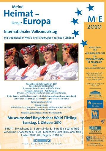Internationaler Volksmusiktag - Museumsdorf Bayerischer Wald