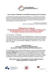 Call for Papers Projektparade BVMP Jahrestagung 2012
