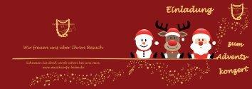 Weihnachtskonzert - Einladung - Das Musikcorps Belm eV