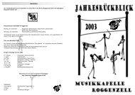 Vorschau - Musikkapelle Roggenzell