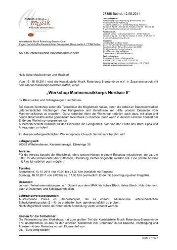 Einladungsschreiben Teilnehmer - PDF, 45 KB - Kontaktstelle Musik ...