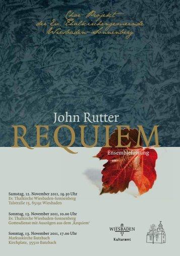 John Rutter - Karthäuser, Andreas
