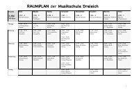 RAUMPLAN der Musikschule Dreieich