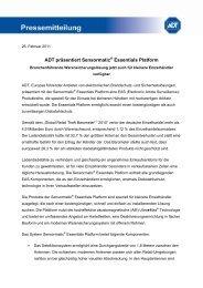 ADT präsentiert Sensormatic Essentials Platform