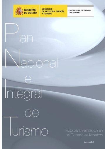 Plan Nacional e Integral de Turismo 2012_2015