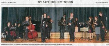 STADT HOLZMINDEN - Musikschule Holzminden e.V.