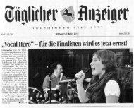 Vocal-Hero-Finalisten proben mit Band - Musikschule Holzminden e.V.