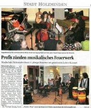 Profis zünden musikalisches Feuerwerk - Musikschule Holzminden ...
