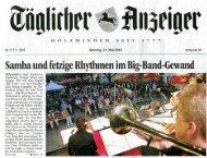 Samba und fetzige Rhythmen im Big-Band-Gewand - Solling Swing ...