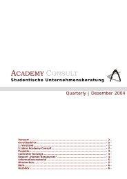 Studentische Unternehmensberatung - Academy Consult München ...