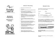 Musikalische Früherziehung - Musikschule Lennetal