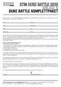 KTM Duke Battle 2013 Ausschreibung inklusive Anlagen - Seite 7