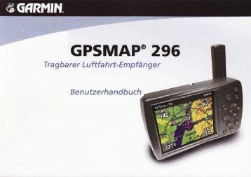 GPS Garmin 296 - Motorflugschule Egelsbach