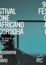 PROGRAMA DE MANO FCAT CORDOBA 2012