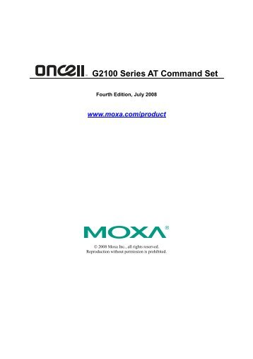 OnCell G2100 Series AT Commands Set v4 - Moxa