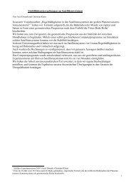 Stabilitätsuntersuchungen an Satellitensystemen In ... - MSG Landau