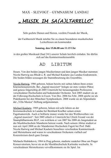 ad libitum - Max Slevogt Gymnasium Landau