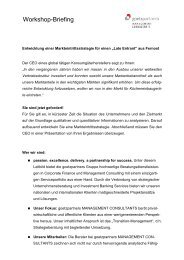 Workshop-Briefing - Academy Consult München e.V.