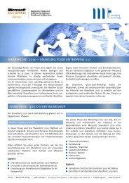 SharePoint Quick-Start - MT AG