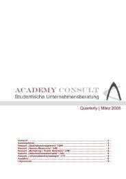 AC - Quartely März 2005 - Academy Consult München e.V.