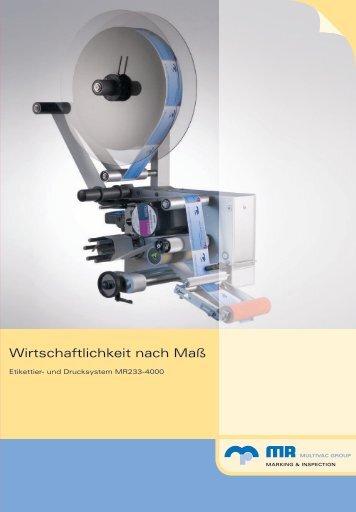 MR233-4000-DE - Multivac