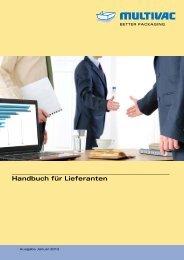 Handbuch für Lieferanten - Multivac