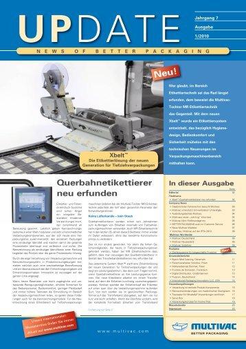 Kundenmagazin UPDATE I/2010 - Als PDF downloaden - Multivac