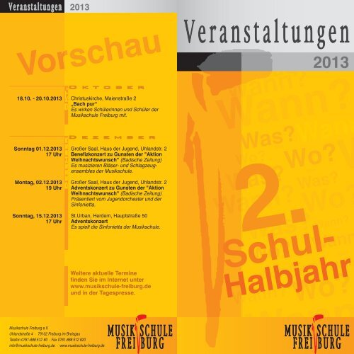 Flyer 2 - Musikschule Freiburg