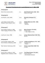Programm Preisträgerkonzert 2009 - Sing- und Musikschule Kempten