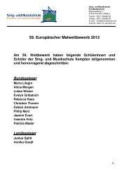 Aushang Europäischer Wettbewerb 2012 - Sing- und Musikschule ...