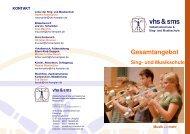 Gesamtangebot Musikschule 2010_11 - Sing- und Musikschule ...