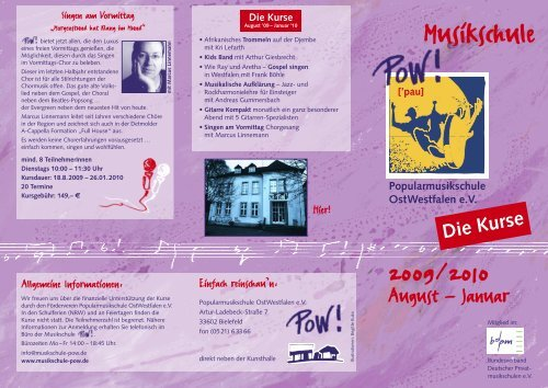 Musikschule - POW