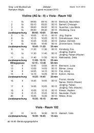Zeitplan Internet - Sing- und Musikschule Kempten