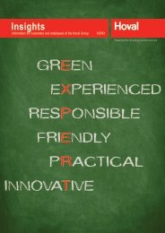 GREEN E FRIENDLY E PRACTICAL R INNOVATIVE T EXPERIENCED X RESPONSIBLE P