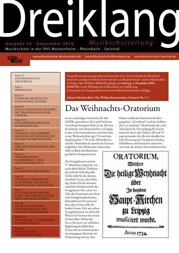 Das Weihnachts-Oratorium - Musikschule Meckenheim Rheinbach ...