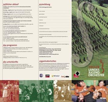 LJO Folder 2006.indd - Tiroler Musikschulwerk